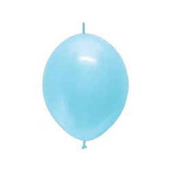 Link-o-loon balloon light blue, decorating balloons