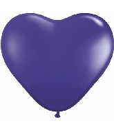 "12"" Heart latex balloons purple, latex balloons, helium balloons, balloon acccessories"