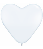 "12"" Heart latex balloons White, latex balloons, helium balloons, balloon acccessories"