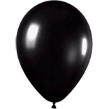 Metallic black latex balloons
