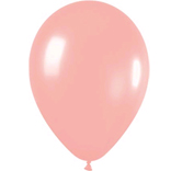 Metallic blush latex balloons