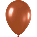 Metallic brown latex balloons