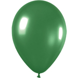 Metallic green latex balloons