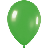 Metallic light green latex balloons