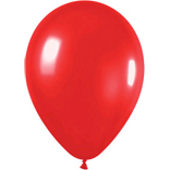 Metallic red latex balloons