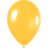 Metallic Yellow latex balloons
