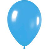Metallic light blue latex balloons